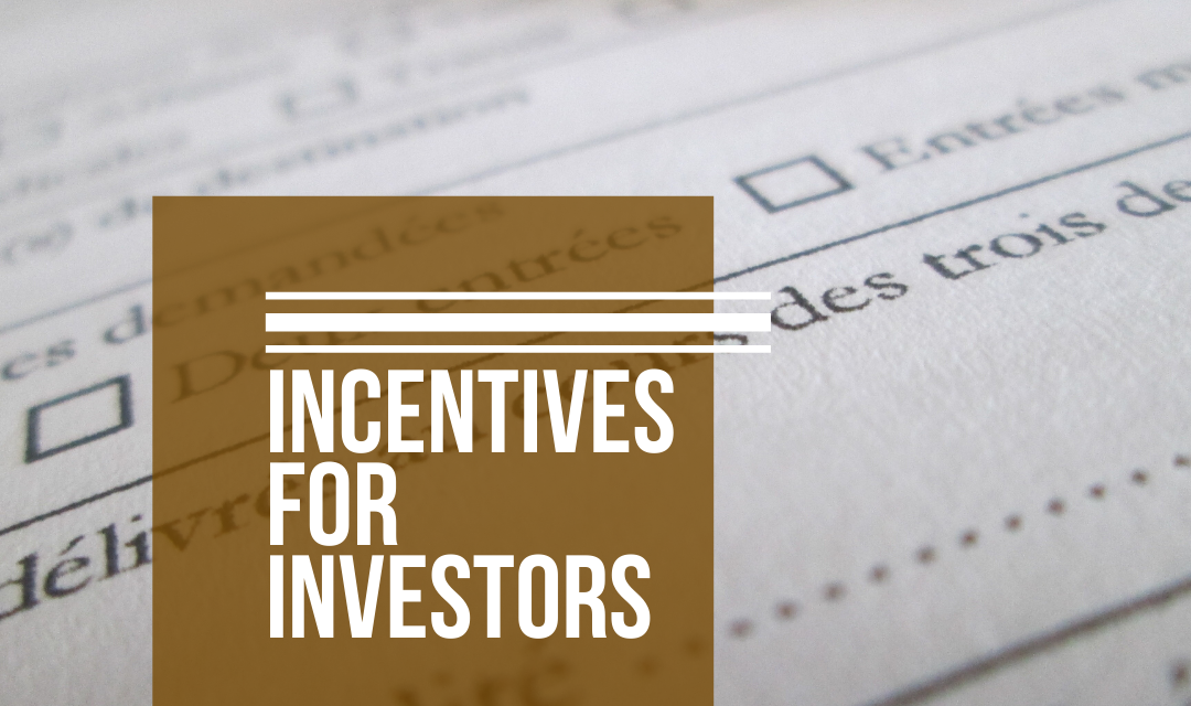 INCENTIVES FOR INVESTORS